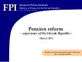 Pension reform - experience of the ...