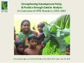 Ifpri gender work overview july 201...