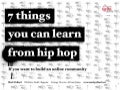 7 things you can learn from hip hop - Ignite Sydney