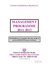 Ignou mba materials