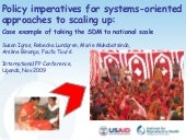 Policy imperatives for systems-orie...