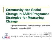 Community and Social Change in ASRH...