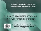 Public Administration As A Developi...
