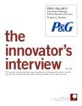 Innovator Interview: Mark Hausfeld, Procter & Gamble
