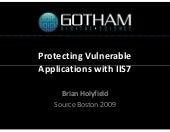 Protecting Vulnerable Applications ...