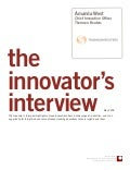 Innovator Interview: Amanda West, Thomson Reuters