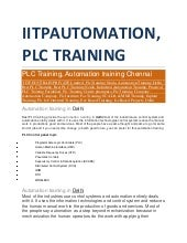 PLC TRAINING IN NOIDA