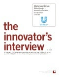 Innovator Interview: Mehmood Khan, Unilever
