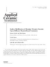 Surface Modification of Alumina/ Zi...