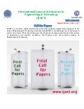 Ijaet call for papers