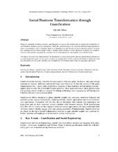 Social Business Transformation thro...