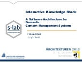 Interactive Knowledge Stack - A Sof...
