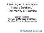 'Creating an information literate S...