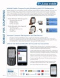 Product Sheet: iLoop Mobile, Mobile Couponing