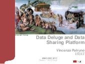 Data Deluge and Data Sharing Platform