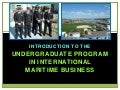 International Maritime Business at Massachusetts Maritime Academy - Program Details