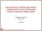 Simulations of Thermo-Mechanical Ch...