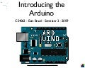 Arduino Lecture 1 - Introducing the Arduino