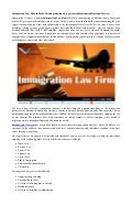 Immigration Law Firm in Delhi –Helping individuals to get Quick Solutions to Migration Matters