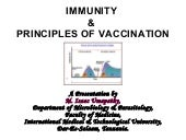Immunity & principles of vaccination