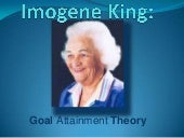 Imogene King: Goal Attainment Theory