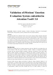 iMotions White Paper: Validation of...