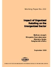 ICRIER Study on Impact of Organized...