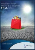 The Impact of India's Potential Drought on FMCG Firms Report