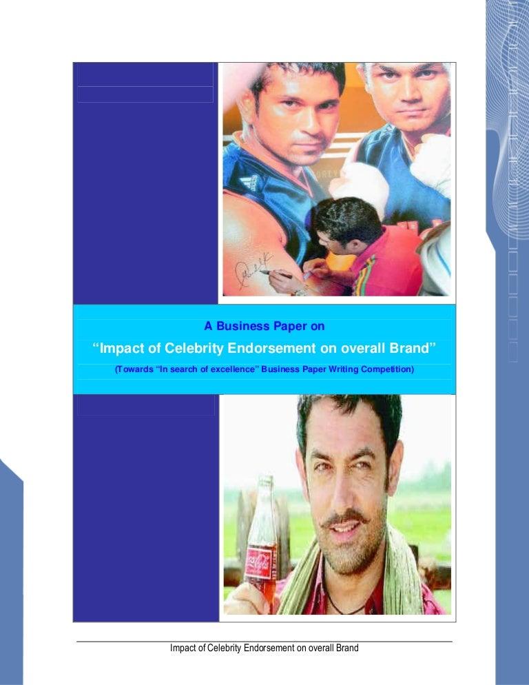Celebrity endorsement dissertation