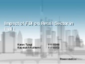 Impact of FDI on retail sector in I...