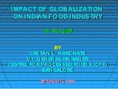 Impact of globalization on food ind...