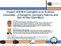 Impact of hipaa compliance on business associates
