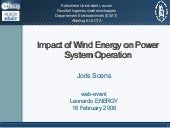 Impact of wind power on power syste...