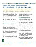 Write-Downs and Other Impairment Considerations for Oil and Gas Companies