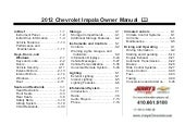 2012 Chevy Impala Owner's Manual Ba...