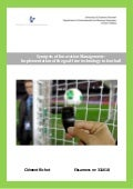Implementation of the goal line technology in football