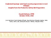 Implementing large scale food secur...