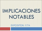 Implicaciones Notables