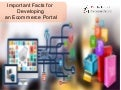 Important Facts For  Developing  An Ecommerce Portal