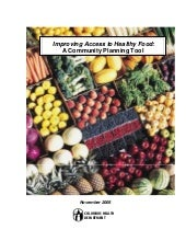 Improving Access to Healthy Food: A...