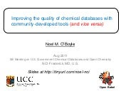 Improving the quality of chemical d...