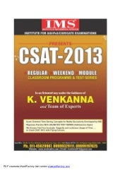 IMS CSAT Brochure
