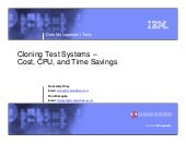 IMS CT Test Envir - IMS UG November...