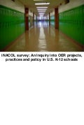 iNACOL survey: An Inquiry into OER projects, practices and policy in U.S. K-12 schools