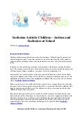 Inclusion autistic children   autism and inclusion at school