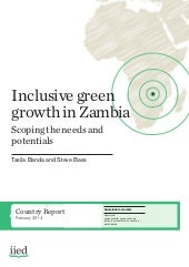 Inclusive Green Growth in Zambia - ...