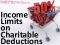 Income limitations on charitable deductions