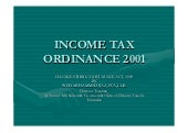 Income Tax Ordinance 2001