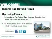 Income Tax Refund Fraud