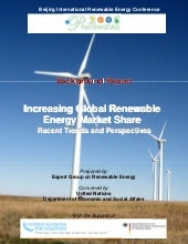 Incr global renewable energy mkt sh...
